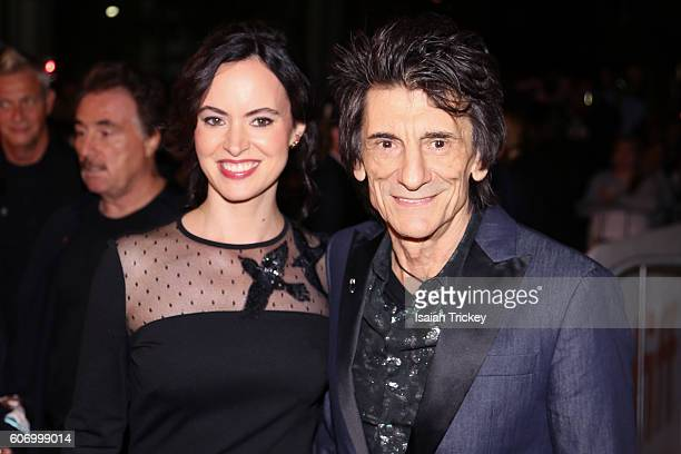 Musician Ronnie Wood and wife Sally Wood attend 'The Rolling Stones Ole Ole Ole A Trip Across Latin America' Premiere during the 2016 Toronto...