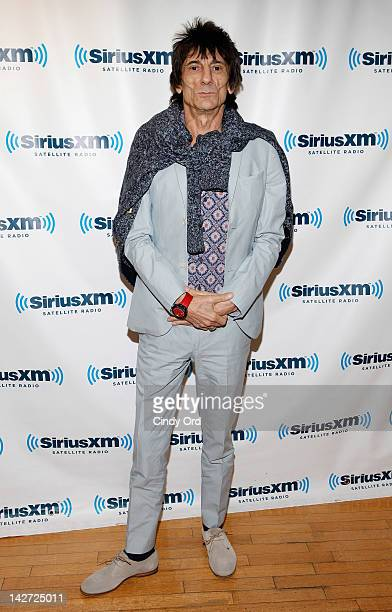 Musician Ronnie Wood visits SiriusXM Studio on April 11 2012 in New York City