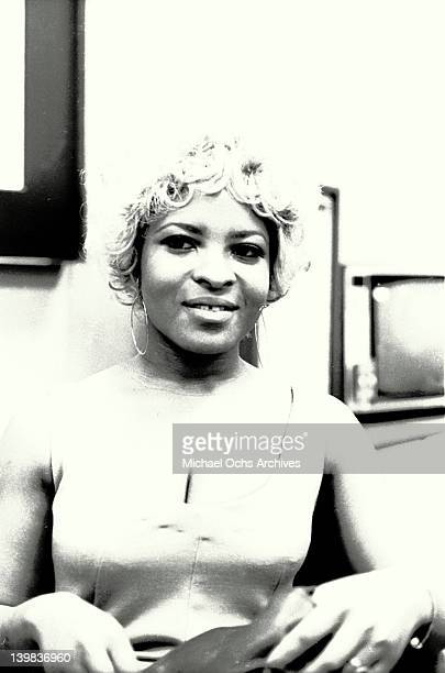 Musician Rose Stone of the psychedelic soul group 'Sly And The Family Stone' poses for a portrait at CBS Records on August 1 1968 in New York New York