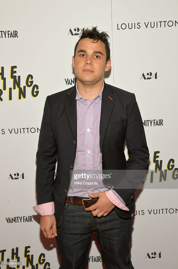 Musician <a gi-track='captionPersonalityLinkClicked' href=/galleries/search?phrase=Rostam+Batmanglij&family=editorial&specificpeople=4958541 ng-click='$event.stopPropagation()'>Rostam Batmanglij</a> attends 'The Bling Ring' screening at Paris Theatre on June 11, 2013 in New York City.