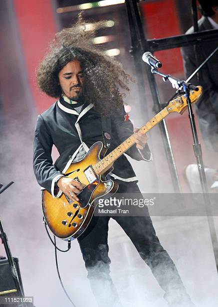 Musician Ruben Albarran of Cafe Tacuba performs onstage during the 9th annual Latin GRAMMY awards held at the Toyota Center on November 13 2008 in...