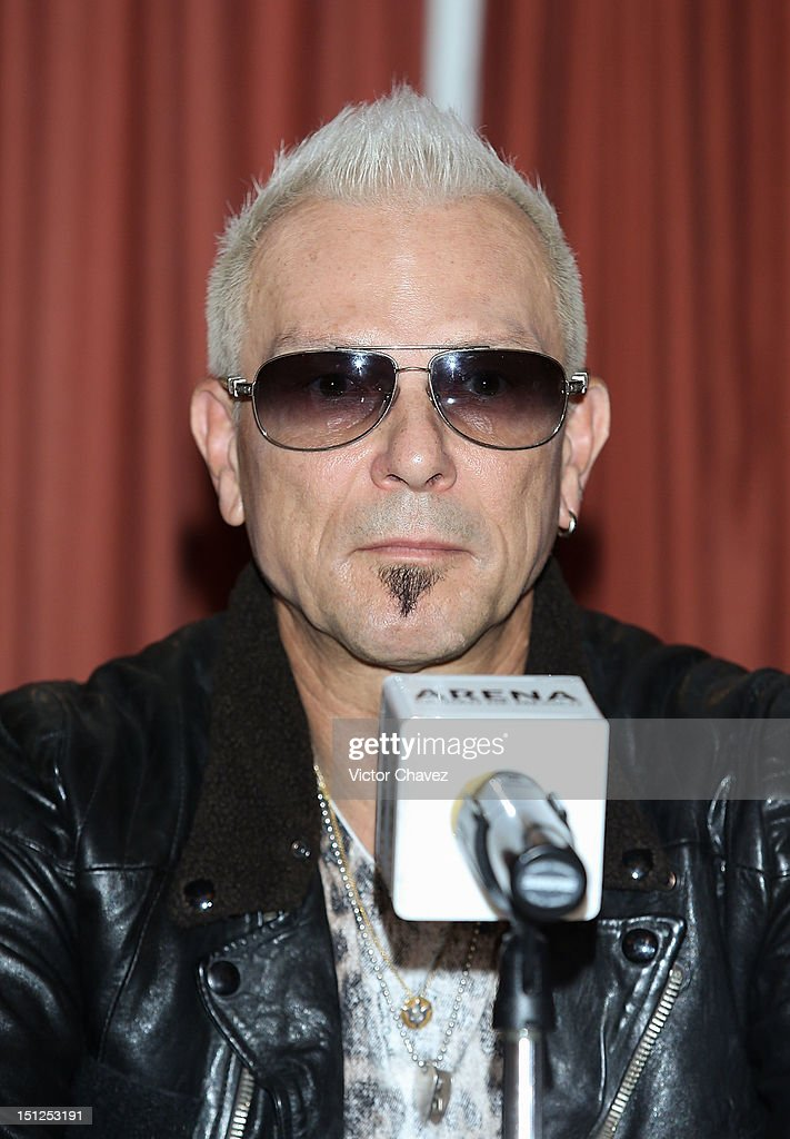 Musician <a gi-track='captionPersonalityLinkClicked' href=/galleries/search?phrase=Rudolf+Schenker&family=editorial&specificpeople=710263 ng-click='$event.stopPropagation()'>Rudolf Schenker</a> of rock band Scorpions attends a press conference at Nikko hotel on September 4, 2012 in Mexico City, Mexico.