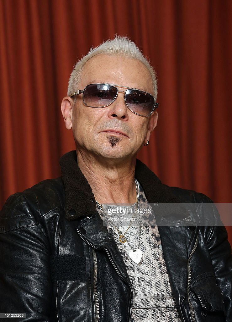 Musician Rudolf Schenker of rock band Scorpions attends a press conference at Nikko hotel on September 4, 2012 in Mexico City, Mexico.