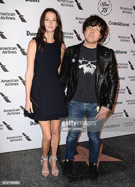Musician Ryan Adams and Megan Butterworth attend the Capitol Records 75th anniversary gala at Capitol Records Tower on November 15 2016 in Los...