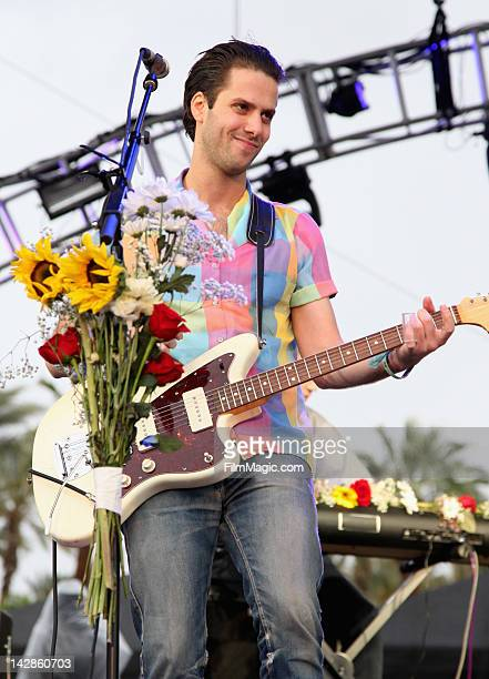 Musician Ryan McGinley of the band Girls performs during Day 1 of the 2012 Coachella Valley Music Arts Festival held at the Empire Polo Club on April...