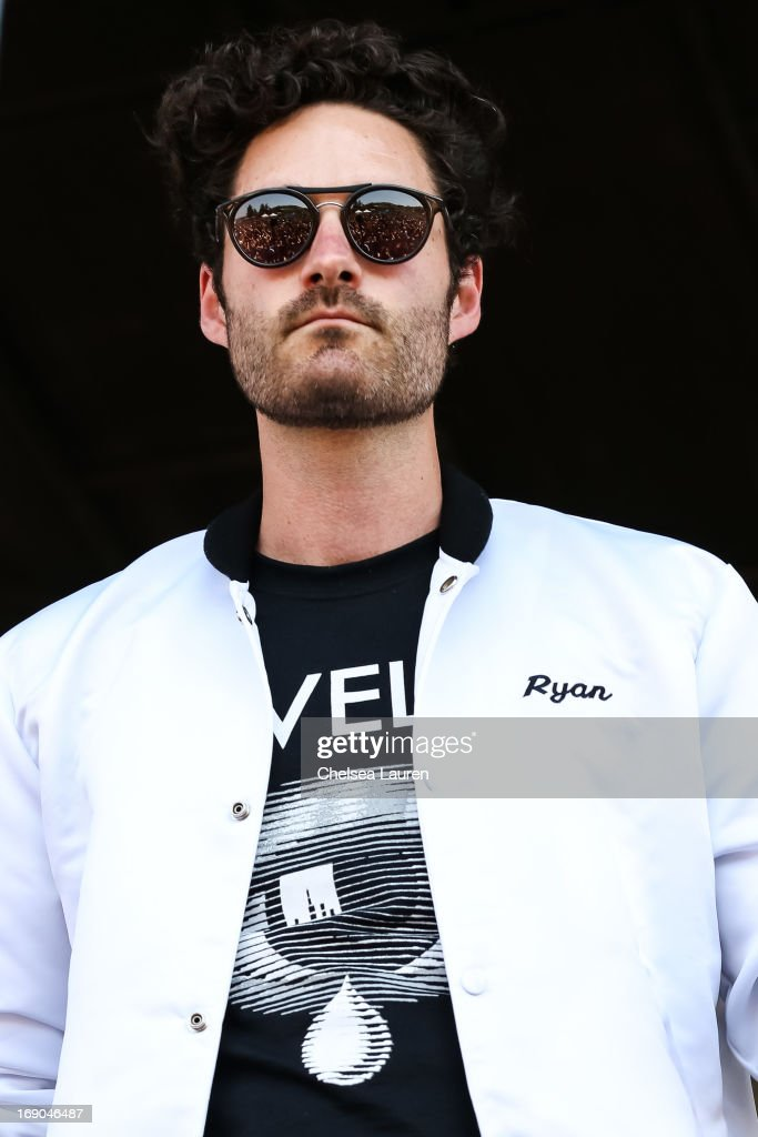 Musician Ryan Merchant of Capital Cities performs at the KROQ weenie roast y fiesta at the Verizon Wireless Amphitheater on May 18, 2013 in Irvine, California.