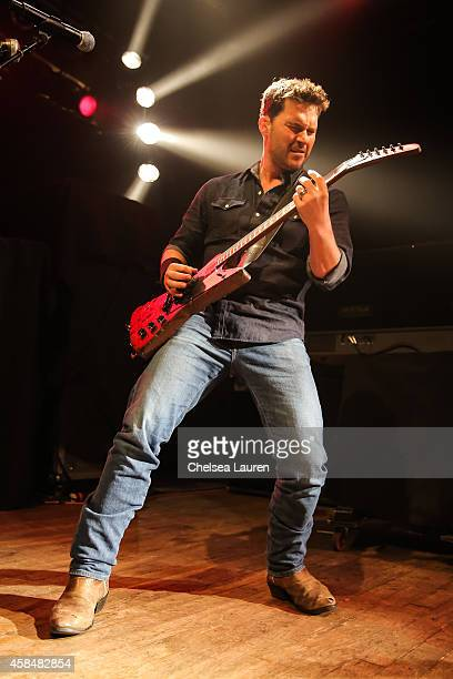 Musician Ryan Peake of Nickelback performs at House of Blues Sunset Strip on November 5 2014 in West Hollywood California