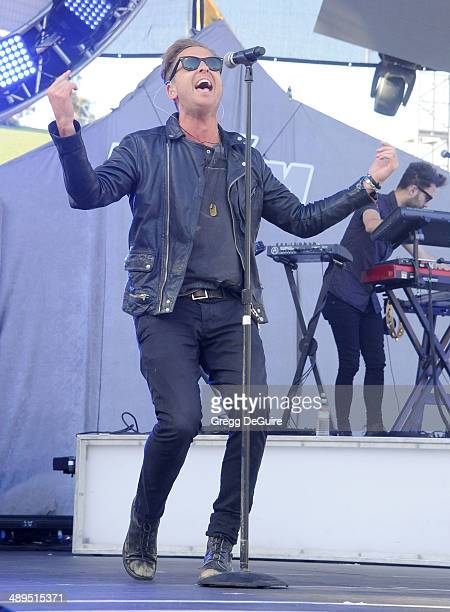 Musician Ryan Tedder of OneRepublic performs at 1027 KIIS FM's 2014 Wango Tango at StubHub Center on May 10 2014 in Los Angeles California