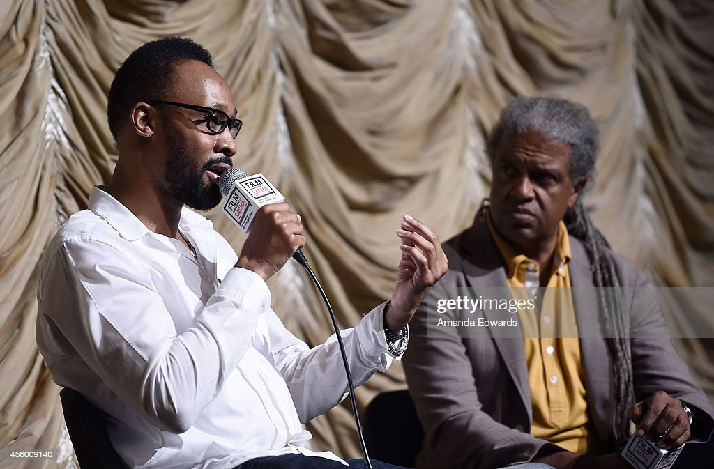 Musician RZA and Film Independent at LACMA film curator Elvis Mitchell attend the Film Independent at LACMA screening and QA of 'The 36th Chamber Of...
