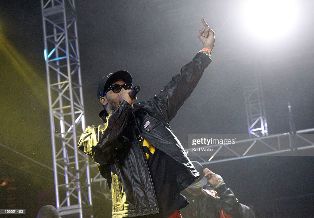 Musician RZA performs onstage during day 3 of the 2013 Coachella Valley Music Arts Festival at the Empire Polo Club on April 14 2013 in Indio...