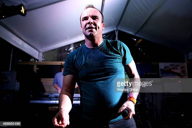Musician Sam Herring of Future Islands performs onstage at the 'Stubhub/Collide' showcase during the 2015 SXSW Music Film Interactive Festival at...