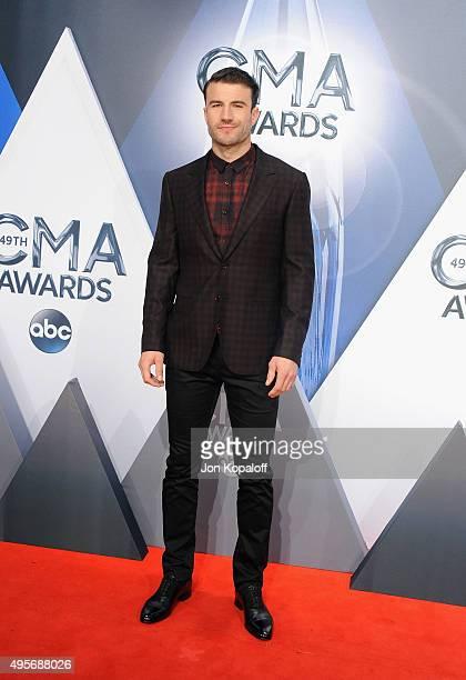 Musician Sam Hunt attends the 49th annual CMA Awards at the Bridgestone Arena on November 4 2015 in Nashville Tennessee