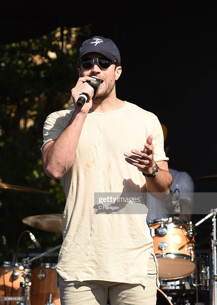 Musician Sam Hunt speaks onstage during the Daytime Village at the 2016 iHeartCountry Festival at The Frank Erwin Center on April 30, 2016 in Austin, Texas.