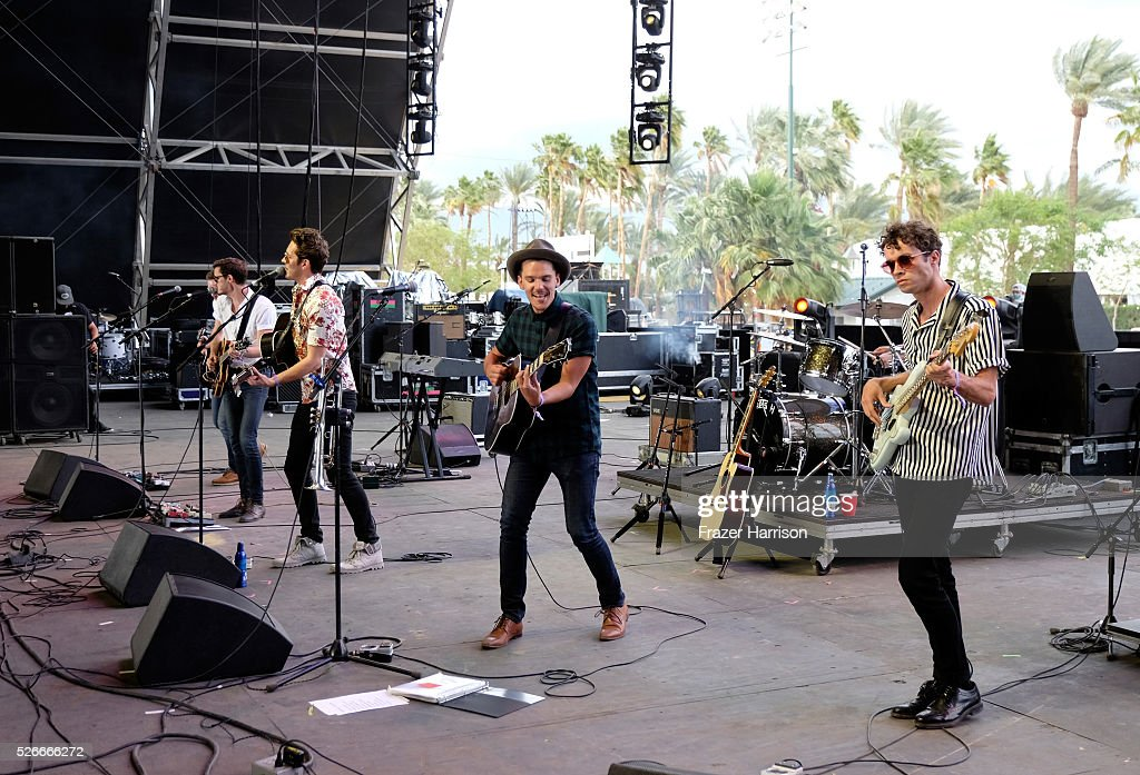 Musician Sam Palladio performs onstage during 2016 Stagecoach California's Country Music Festival at Empire Polo Club on April 30, 2016 in Indio, California.