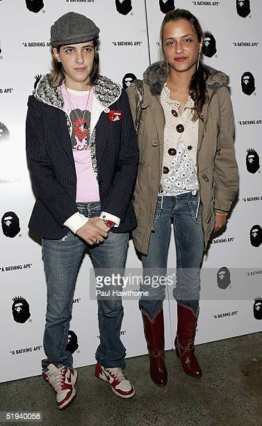 Musician Samantha Ronson and designer Charlotte Ronson attend the store opening of 'Nigo's A Bathing Ape' with Pharrell Williams after party at the...
