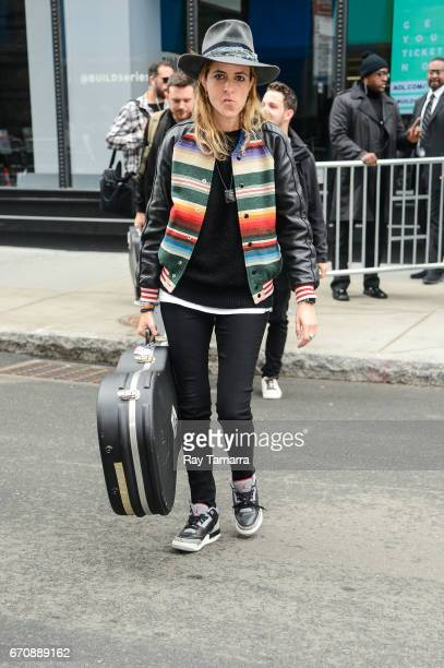 Musician Samantha Ronson of Ocean Park Standoff leaves the 'AOL Build' taping at the AOL Studios on April 20 2017 in New York City