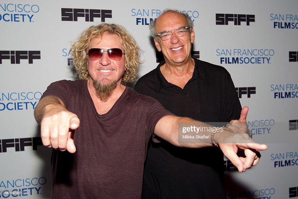Musician Sammy Hagar and Shep Gordon arrive at the premiere of 'Supermensch: The Legend of Shep Gordon' at San Francisco International Film Festival on April 30, 2014 in San Francisco, California.