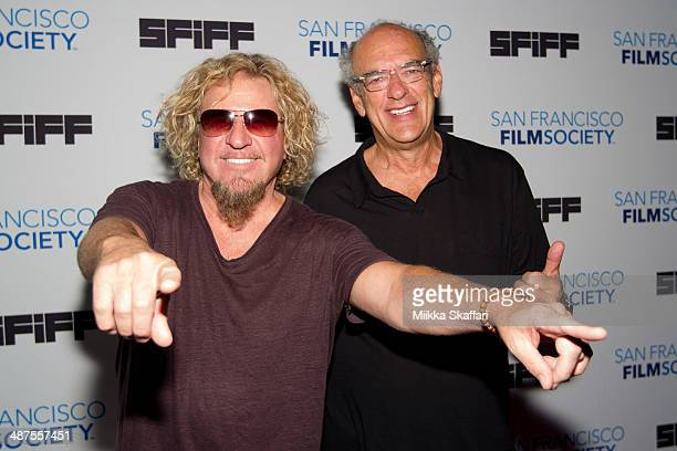 Musician Sammy Hagar and Shep Gordon arrive at the premiere of 'Supermensch The Legend of Shep Gordon' at San Francisco International Film Festival...