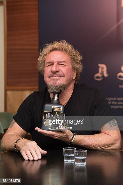 Musician Sammy Hagar attends the launch for Santo Mezquila at Delilah on February 9 2017 in West Hollywood California
