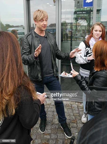 Musician Samu Haber sighted at Sat1 television studio on October 9 2014 in Berlin Germany
