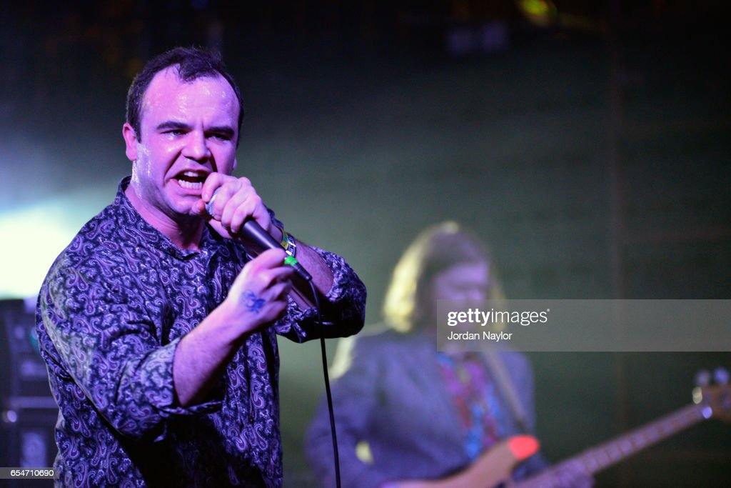 Musician Samuel T. Herring of Future Islands performs onstage at the 4AD Revue music showcase during 2017 SXSW Conference and Festivals at Mohawk on March 17, 2017 in Austin, Texas.