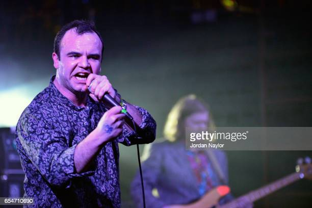 Musician Samuel T Herring of Future Islands performs onstage at the 4AD Revue music showcase during 2017 SXSW Conference and Festivals at Mohawk on...
