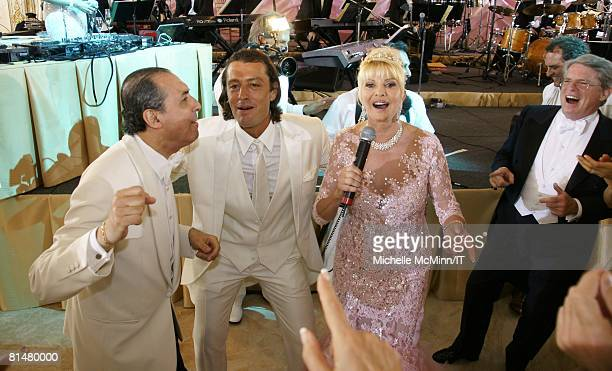 RATES Musician Samy Goz Rossano Rubicondi and Ivana Trump during the wedding reception of Ivana Trump and Rossano Rubicondi at the MaraLago Club on...
