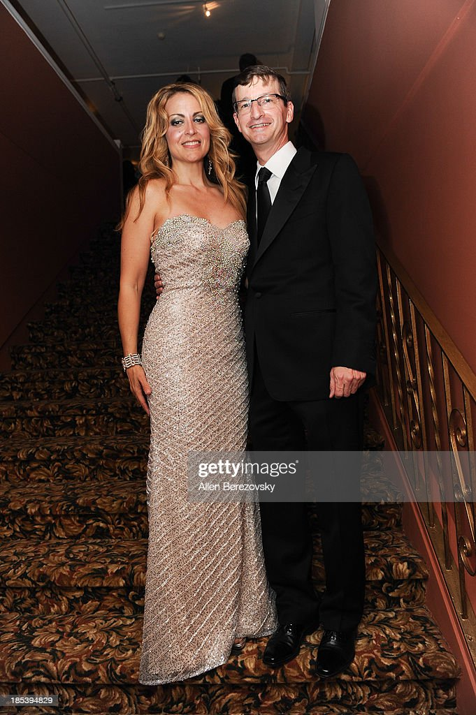 Musician Sara Andon and producer Robert Townson attend Varese Sarabande Worldwide 35th Anniversary Special Halloween Concert Gala at Warner Grand Theatre on October 19, 2013 in San Pedro, California.