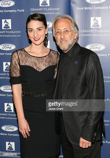 Musician Sara Bareilles and President of the National Academy of Recording Arts and Sciences Neil Portnow attend the 53rd Annual GRAMMY Awards GRAMMY...