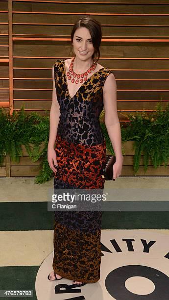 Musician Sara Bareilles arrives at the 2014 Vanity Fair Oscar Party Hosted By Graydon Carter on March 2 2014 in West Hollywood California