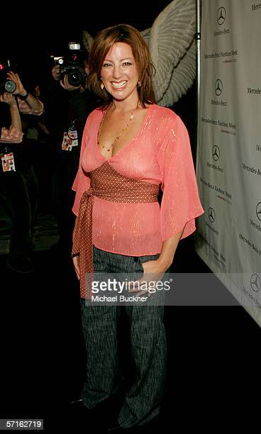 Musician Sarah McLachlan attends MercedesBenz Fashion Week at Smashbox Studios on March 22 2006 in Culver City California