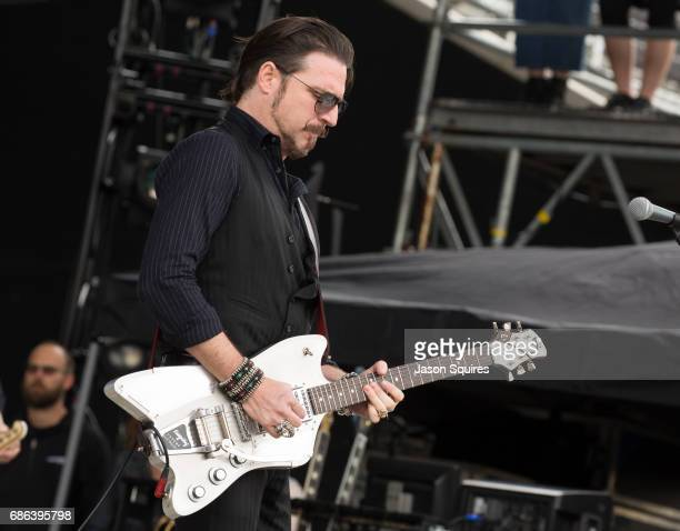 Musician Scott Holiday of Rival Sons performs at MAPFRE Stadium on May 21 2017 in Columbus Ohio