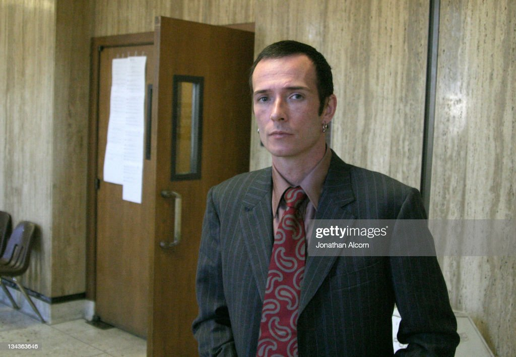 Musician Scott Weiland at the Pasadena Courthouse appearing to report progress with his drug rehabilitation. Weiland is successfully following the rehabilitation the court ordered after last years drug arrest.