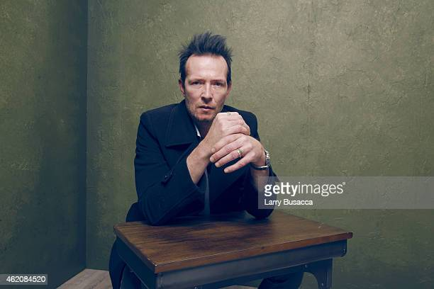 Musician Scott Weiland poses for a portrait at the Village at the Lift Presented by McDonald's McCafe during the 2015 Sundance Film Festival on...