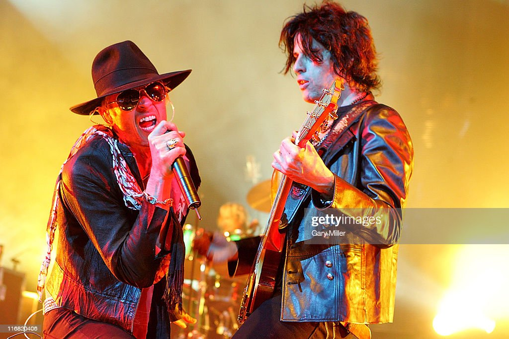 Musician Scott Weiland singer for Stone Temple Pilots and Guitarist Dean DeLeo perform in concert at the ATT Center on June 27th 2008 in San Antonio...