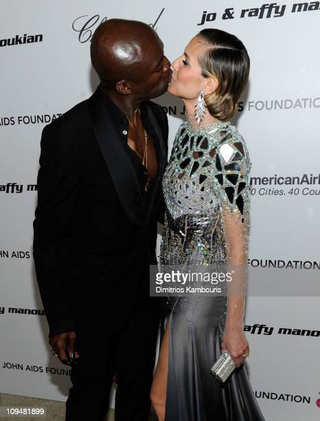 Musician Seal and Heidi Klum attend the 19th Annual Elton John AIDS Foundation Academy Awards Viewing Party at the Pacific Design Center on February...