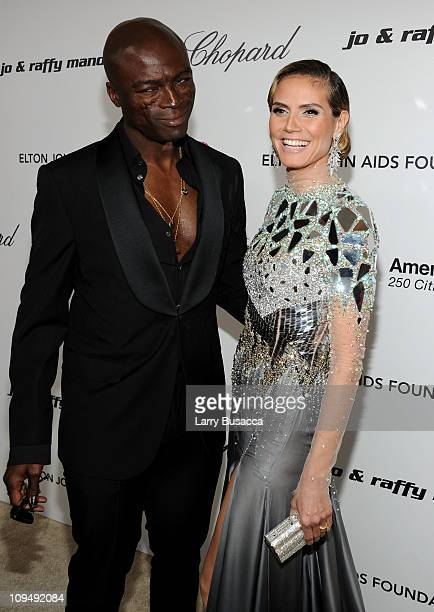 Musician Seal and model Heidi Klum arrive at the 19th Annual Elton John AIDS Foundation Academy Awards Viewing Party at the Pacific Design Center on...