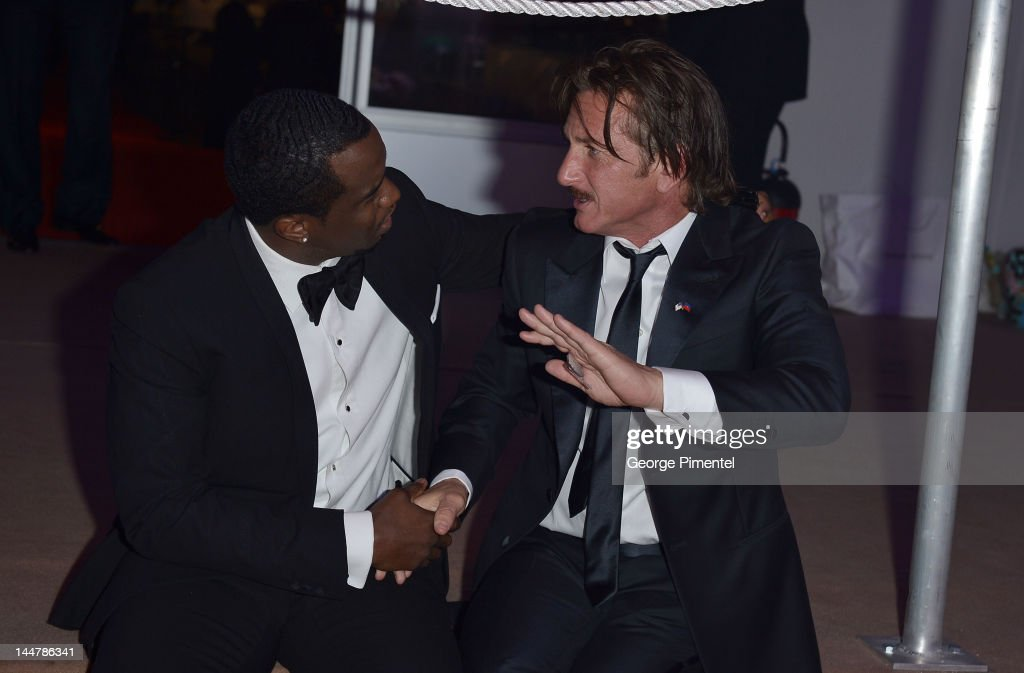 Musician Sean Combs (L) and actor Sean Penn attend the Haiti Carnival in Cannes Benefitting J/P HRO, Artists for Peace and Justice & Happy Hearts Fund Presented By Armani during the 65th Annual Cannes Film Festival on May 18, 2012 in Cannes, France.