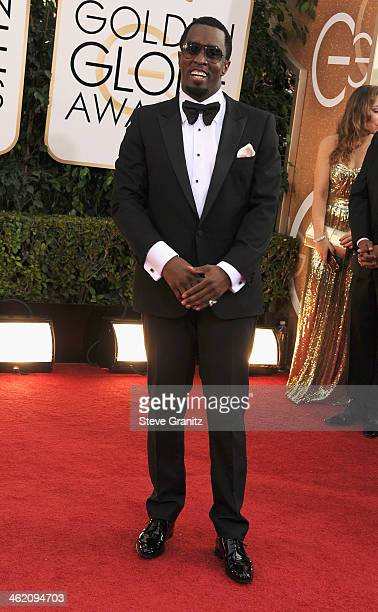 Musician Sean Combs attends the 71st Annual Golden Globe Awards held at The Beverly Hilton Hotel on January 12 2014 in Beverly Hills California