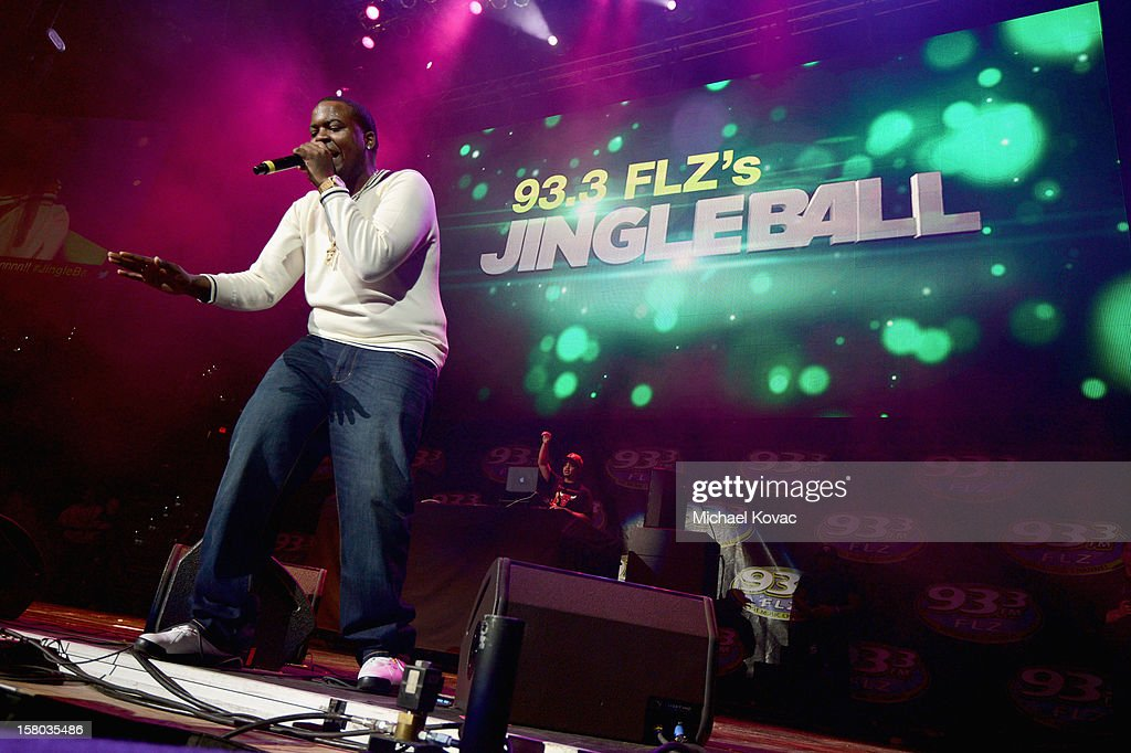 Musician Sean Kingston performs onstage during 93.3 FLZ's Jingle Ball 2012 at Tampa Bay Times Forum on December 9, 2012 in Tampa, Florida.