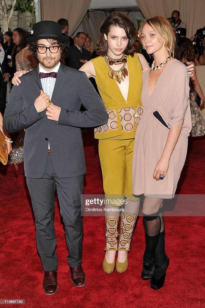 Musician Sean Lennon, Charlotte Kemp Muhl and model Sasha Pivovarova attend the Costume Institute Gala Benefit to celebrate the opening of the 'American Woman: Fashioning a National Identity' exhibition at The Metropolitan Museum of Art on May 3, 2010 in New York City.