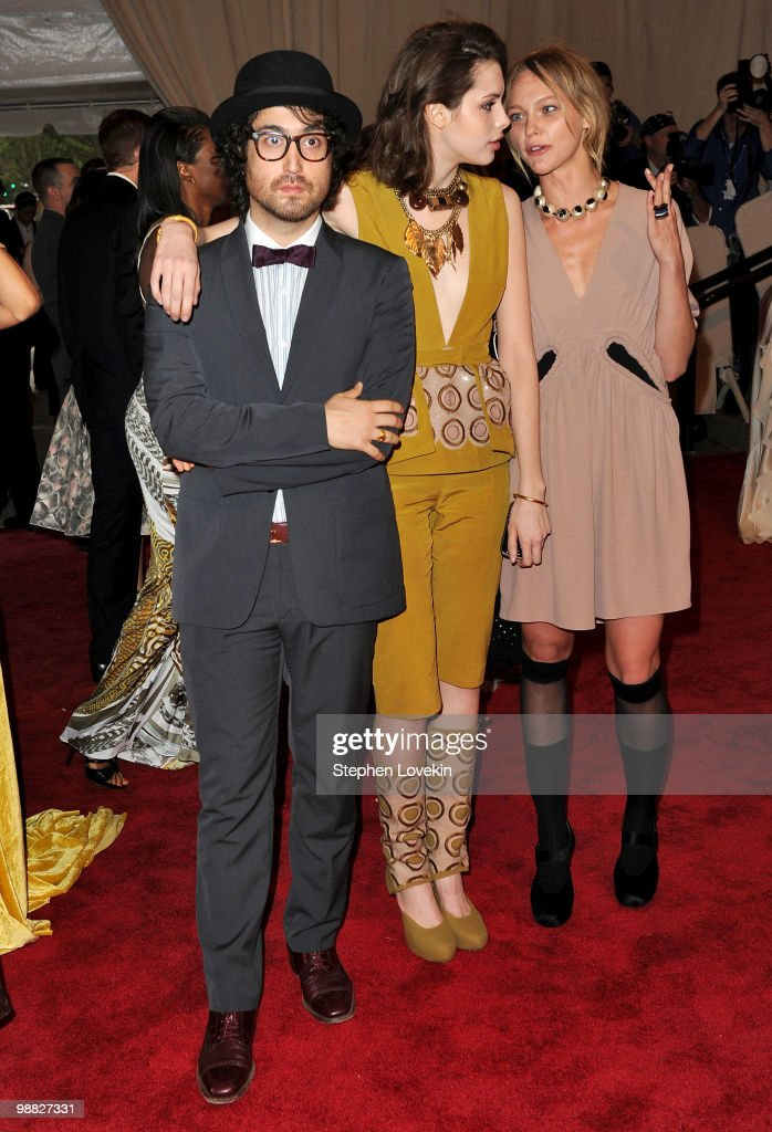 Musician Sean Lennon Charlotte Kemp Muhl and model Sasha Pivovarova attend the Costume Institute Gala Benefit to celebrate the opening of the...