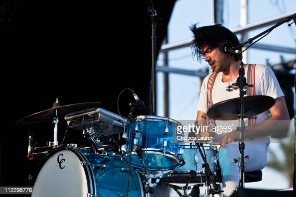 Musician Sebastien Grainger of Death From Above 1979 performs at day 3 of the 2011 Coachella Valley Music Arts Festival at The Empire Polo Club on...
