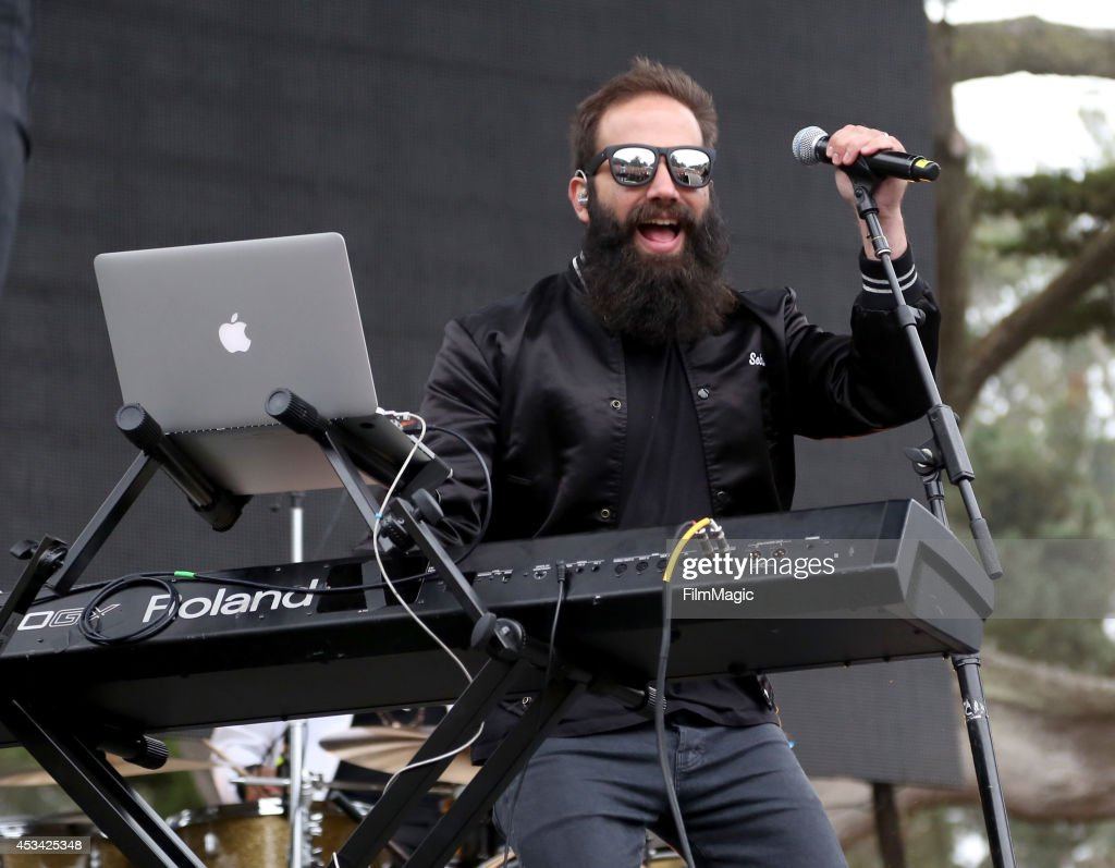 Musician Sebu Simonian of the band Capital Cities performs at the Twin Peaks Stage during day 2 of the 2014 Outside Lands Music and Arts Festival at...