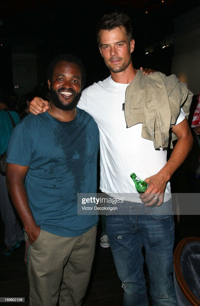 Musician Selema Masakela and actor <a gi-track='captionPersonalityLinkClicked' href=/galleries/search?phrase=Josh+Duhamel&family=editorial&specificpeople=208740 ng-click='$event.stopPropagation()'>Josh Duhamel</a> attend the screening of 'Alekesam' at Sonos Studio on August 22, 2012 in Los Angeles, California.