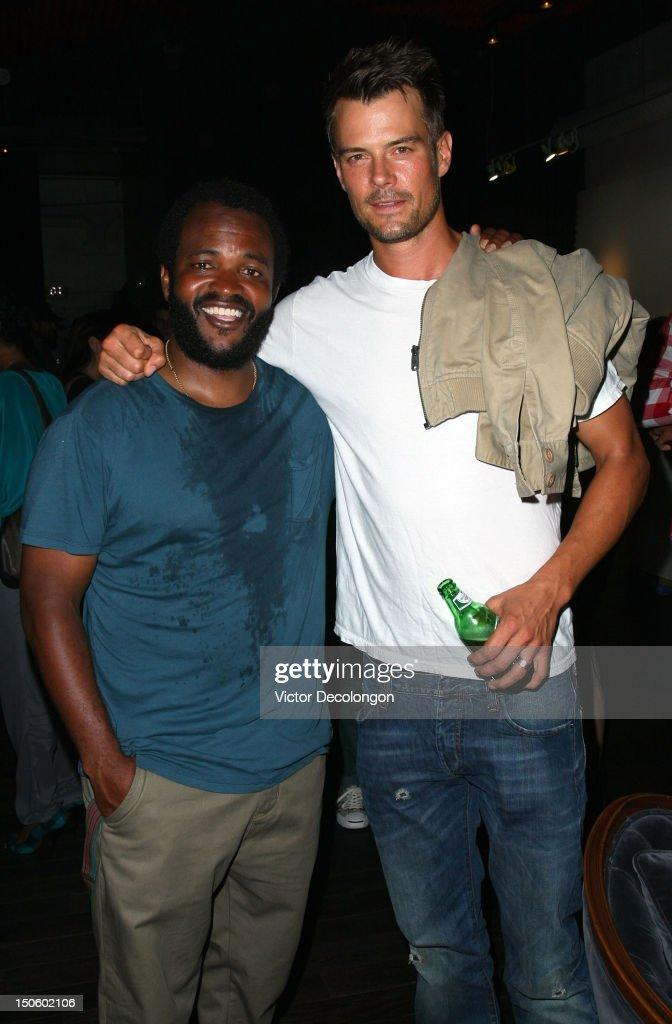 Musician Selema Masakela and actor Josh Duhamel attend the screening of 'Alekesam' at Sonos Studio on August 22, 2012 in Los Angeles, California.