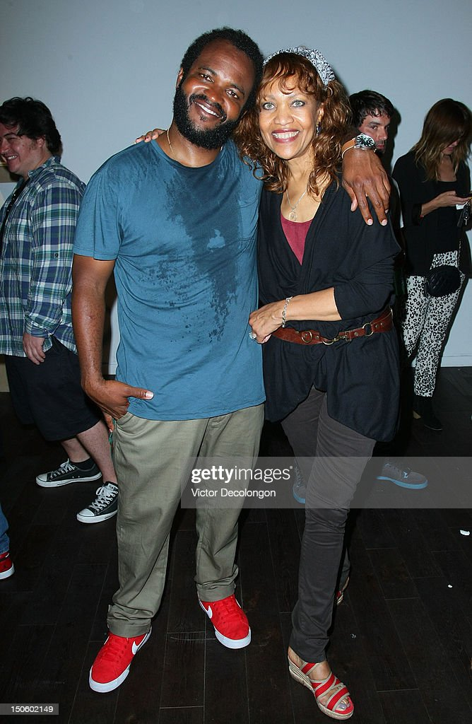 Musician Selema Masakela and his mother Jesse La Pierre (R) attend the screening of 'Alekesam' at Sonos Studio on August 22, 2012 in Los Angeles, California.