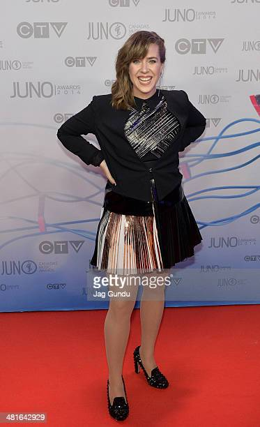 Musician Serena Ryder arrives at the 2014 Juno Awards on March 30 2014 in Winnipeg Canada