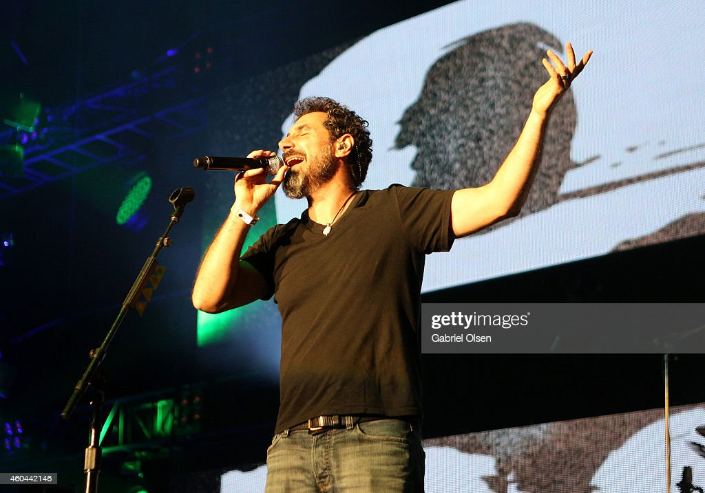 Musician Serj Tankian of System of a Down performs onstage during day one of the 25th annual KROQ Almost Acoustic Christmas at The Forum on December...