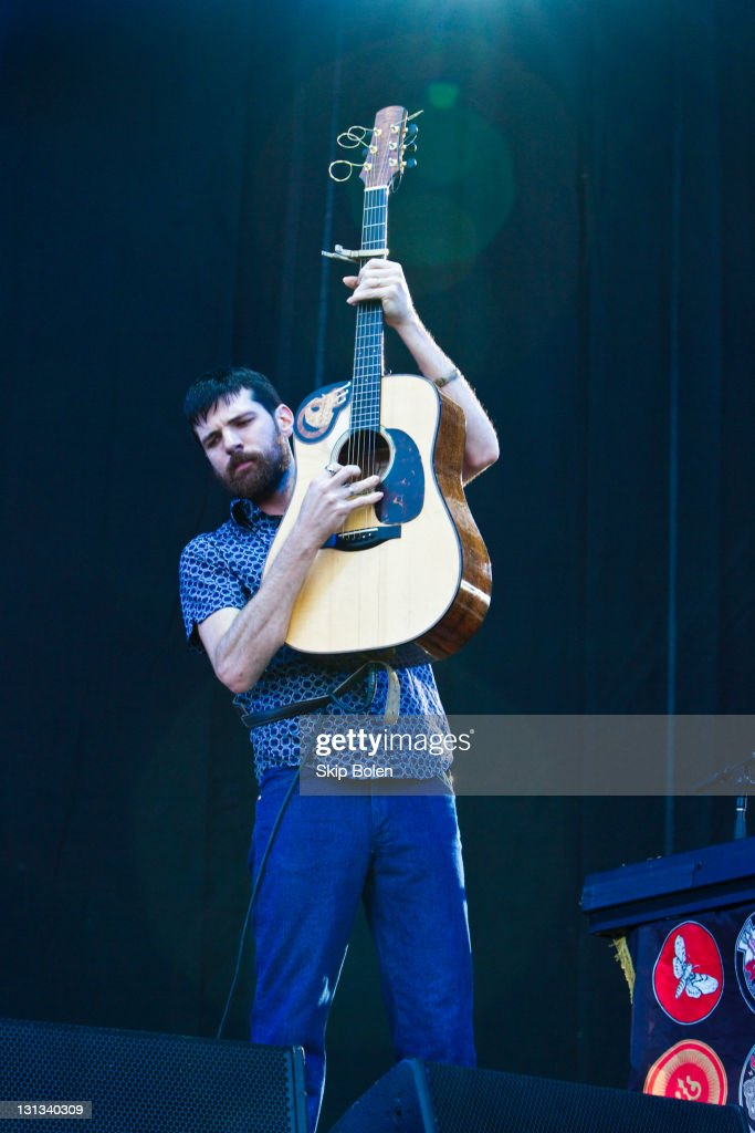 Musician Seth Avett of <a gi-track='captionPersonalityLinkClicked' href=/galleries/search?phrase=The+Avett+Brothers&family=editorial&specificpeople=4270503 ng-click='$event.stopPropagation()'>The Avett Brothers</a> performs during the 2011 Hangout Music Festival performs during the 2011 Hangout Music Festival on May 21, 2011 in Gulf Shores, Alabama.